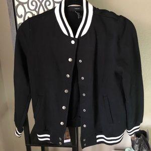 Black Bomber Varsity Jacket